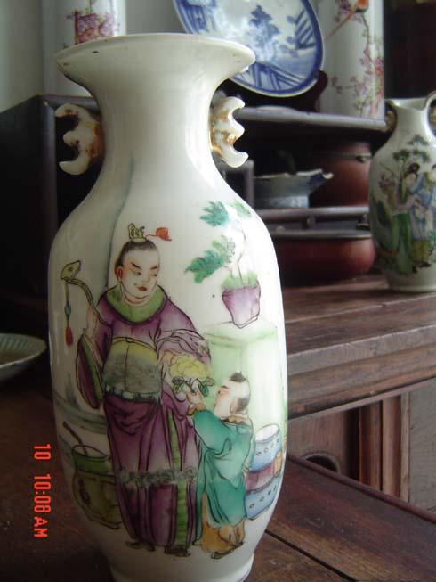 永远包真:民国名人 桐华居单个人物花瓶