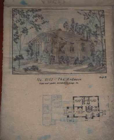1943年英文别墅设计图_v别墅拍卖网_艺术品拍曦别墅华侨城招商城图片