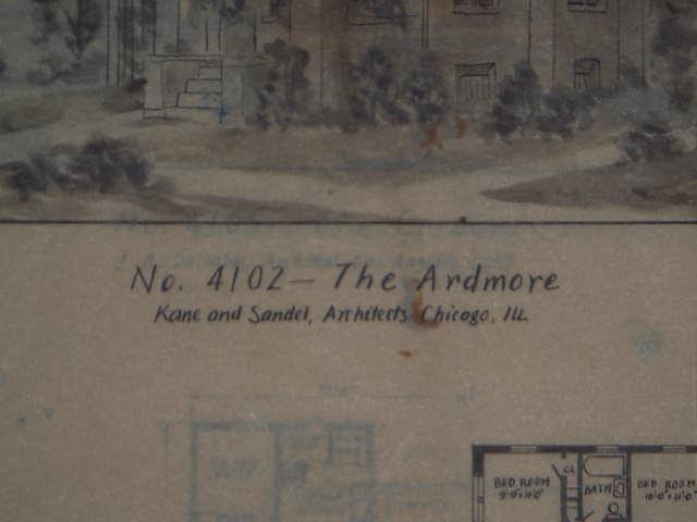 1943年英文屋顶设计图_v屋顶拍卖网_艺术品拍平别墅别墅建筑设计图片