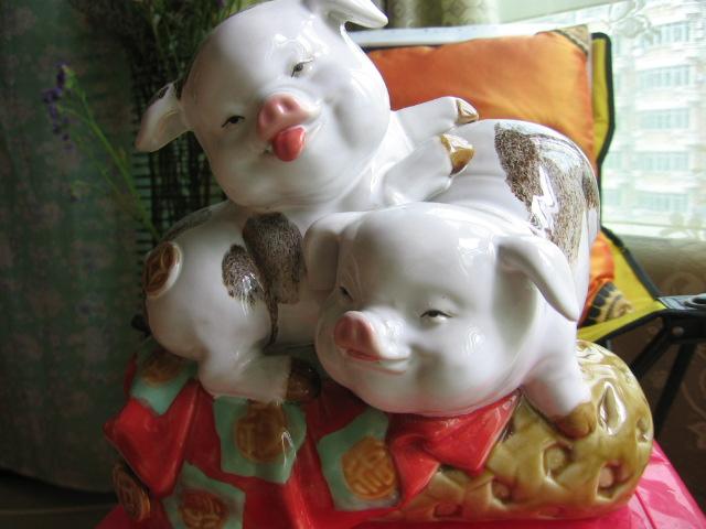 佛山石湾陶瓷公仔--猪