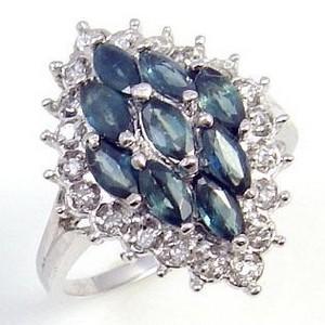 蓝宝石戒.