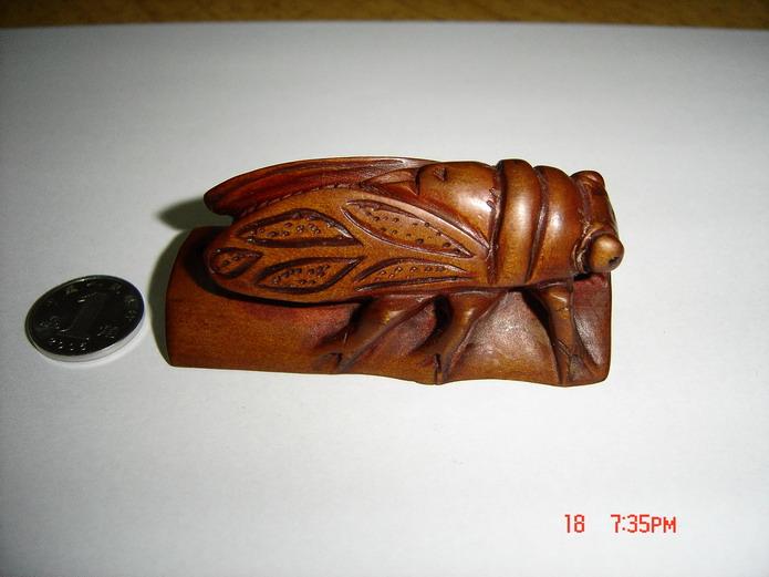 黄杨木雕--知足长乐