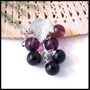 ★天然黑玛瑙+天然紫水晶★吊坠