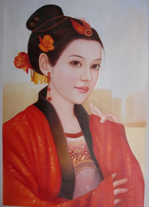 油画-古代美女