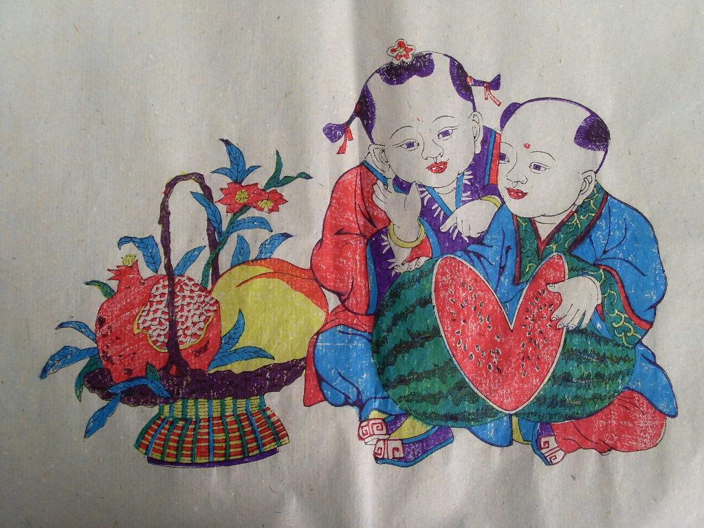 潍坊木板年画一套(20张)