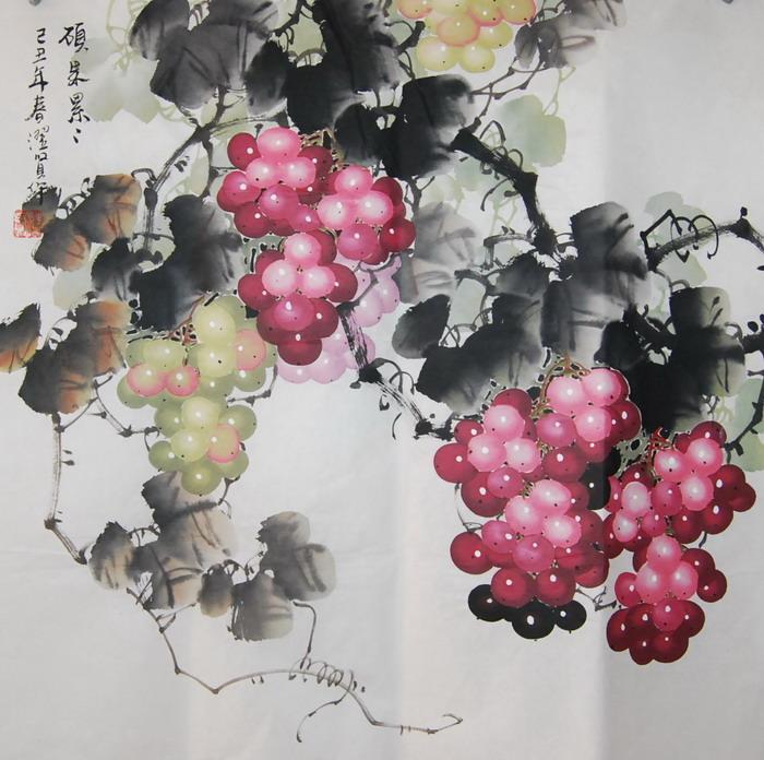 名家精品国画葡萄