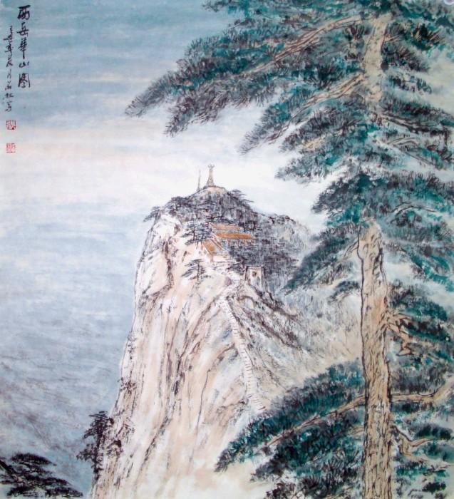 河南风景水墨长卷
