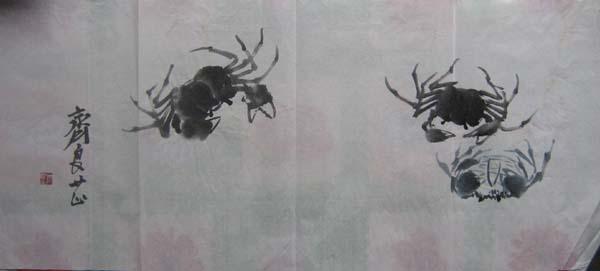 蝦和螃蟹畫畫圖片