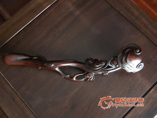 紫檀木雕如意_在线拍卖
