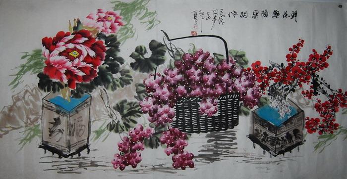 名家68x136cm写意国画_在线拍卖_在线拍卖网_艺术品