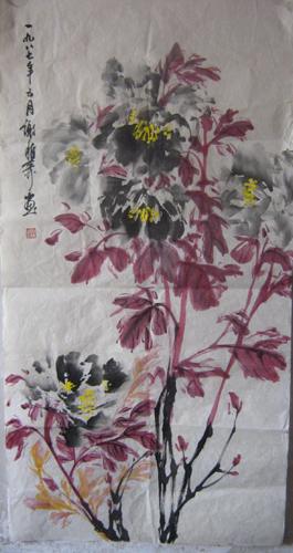 视传手绘花卉黑白