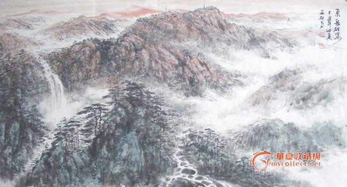 实力派画家张石林原创国画精品超低拍;; 一张4尺非常ok的好山水国画