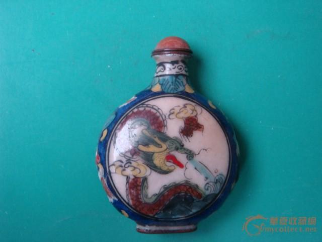 景泰蓝扁形鼻烟壶图1-在线竞价-图片|图库|价格