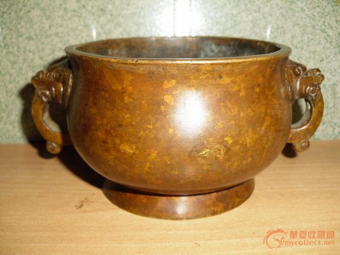 漂亮的象耳铜香炉特价拍图1-在线竞价-图片|图库|价格