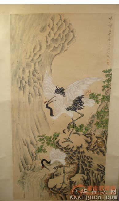 动态工笔画仙鹤牡丹图片