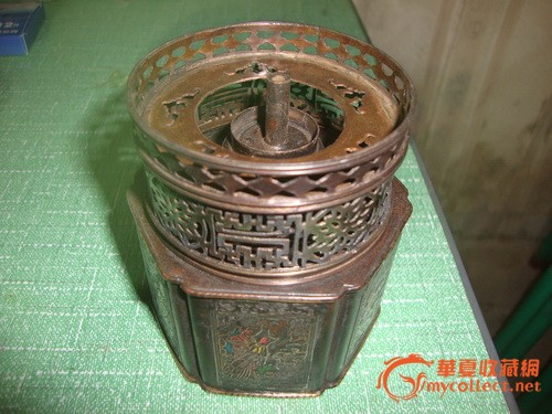 铜制大烟灯一个图1-在线竞价-图片|图库|价格