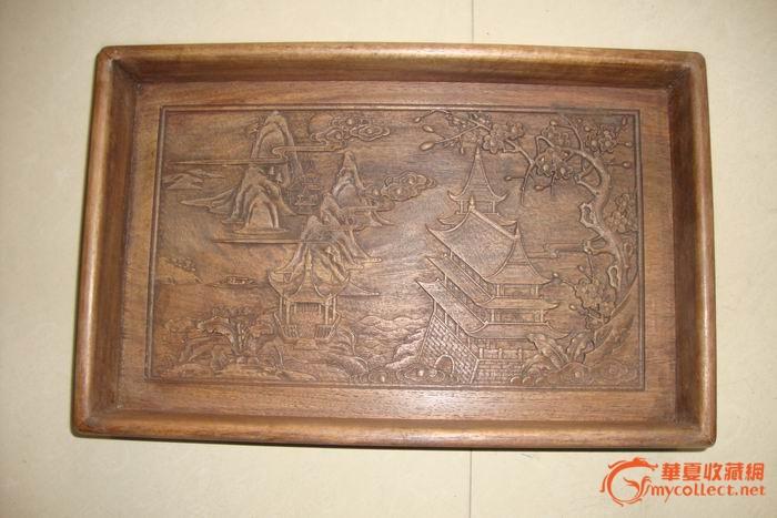 珍藏木雕果盘图1-在线竞价-图片|图库|价格