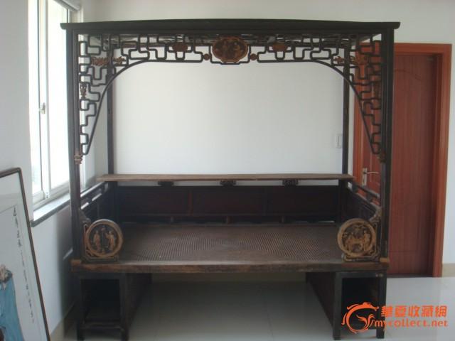 清代:雕花木床