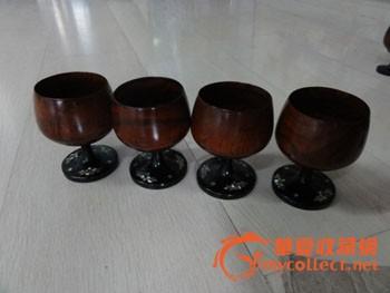 木杯子和碗