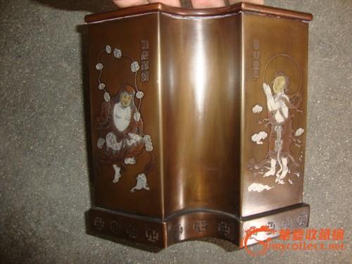精美铜制扇形笔筒图3-在线竞价-图片|图库|价格