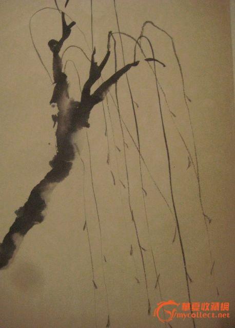 张大千门人 娄炯《古风淡雅的传统水墨人物风景》卷轴