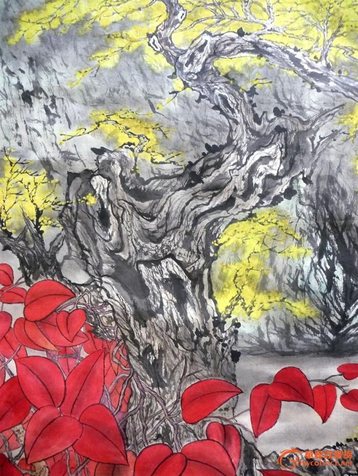 专场拍卖——中国山水画《银杏树农夏日香》