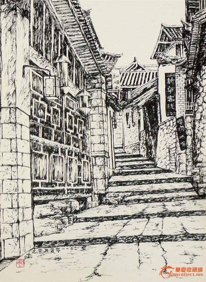 小巷素描写生步骤