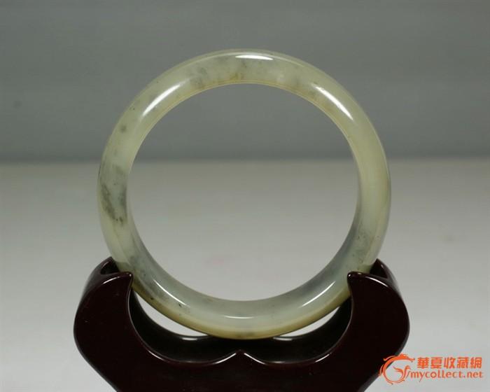 超润和田墨玉青花籽料手镯i内径57毫米