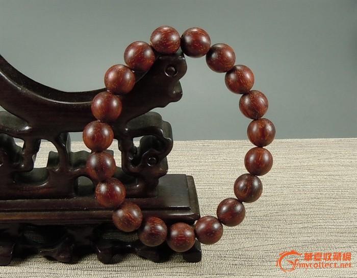 印度小叶紫檀牛毛纹顺纹佛珠手串 手链 包邮