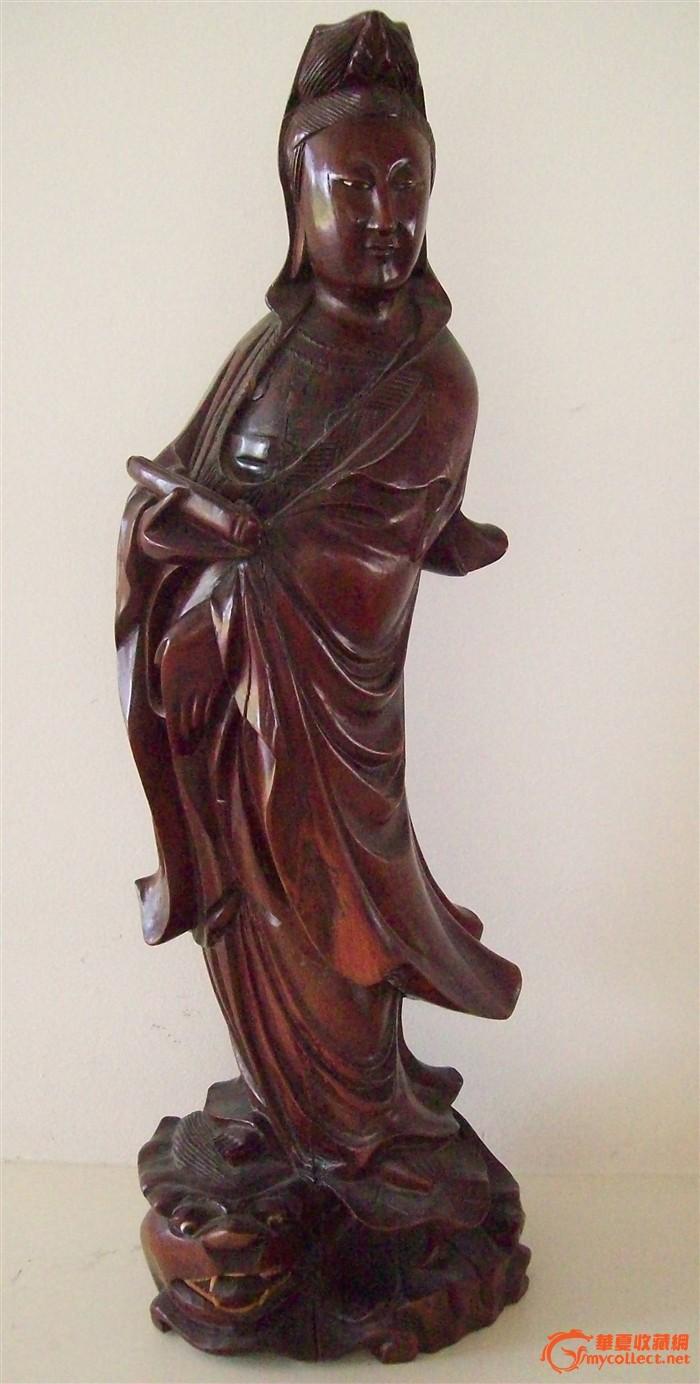 木雕观音像图1-在线竞价-图片|图库|价格