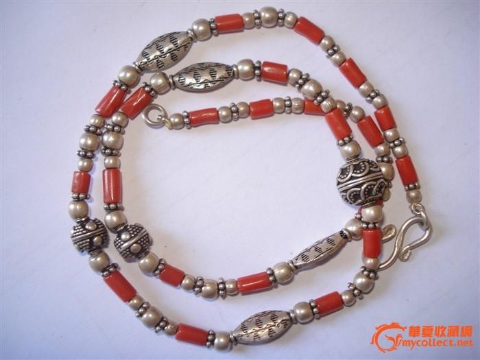 珊瑚银珠项链图1-在线竞价-图片 图库 价格
