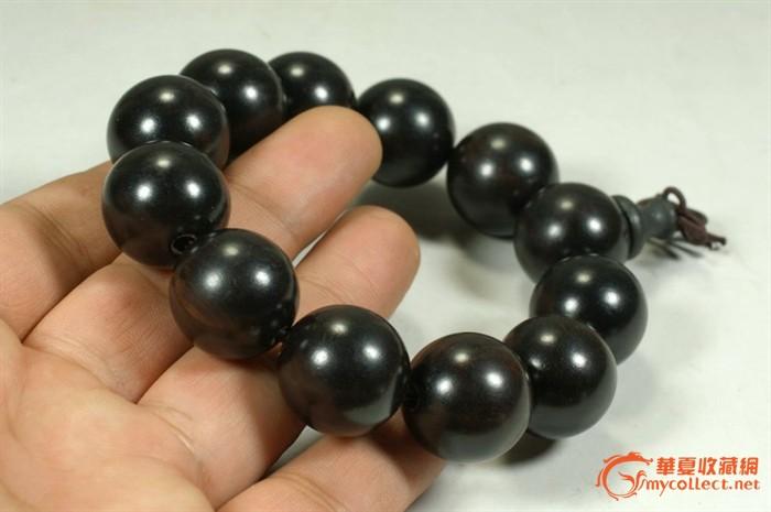 黑檀木圆珠手链 珠子直径20mm