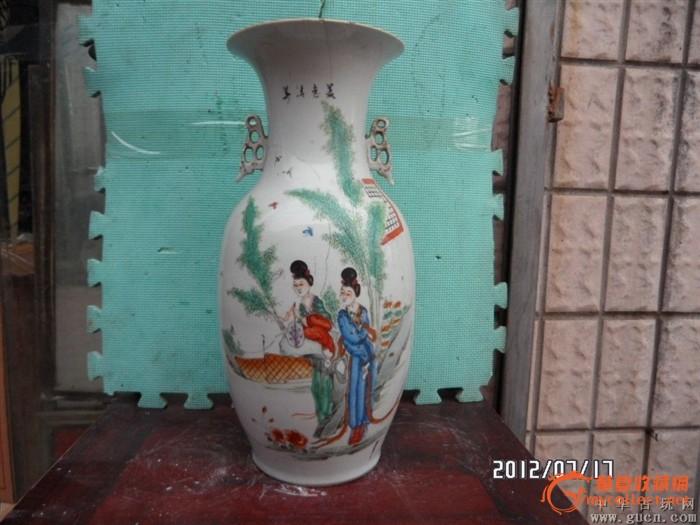 民国竹子美人大花瓶一个