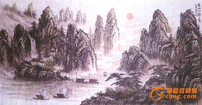 """国画《万山红遍》   1999年荣""""世界杰出华人艺术家""""荣誉称"""