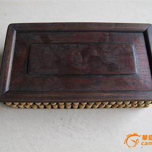 鸡翅木骨雕算盘盒