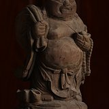 晚清 老木雕 小叶黄杨木  老木雕 很好的标本 弥勒佛二 消保賣家低价賣貼