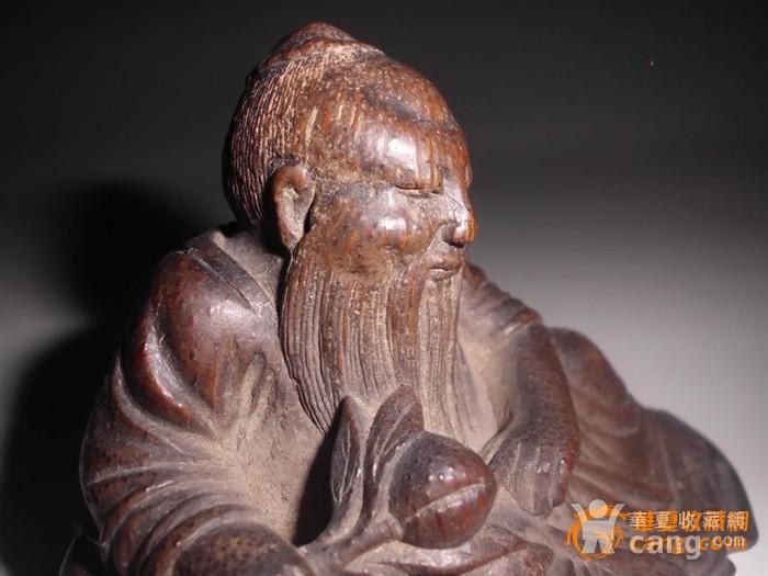 老竹根雕刻老者图3
