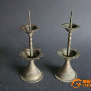 祭祀用铜蜡烛台