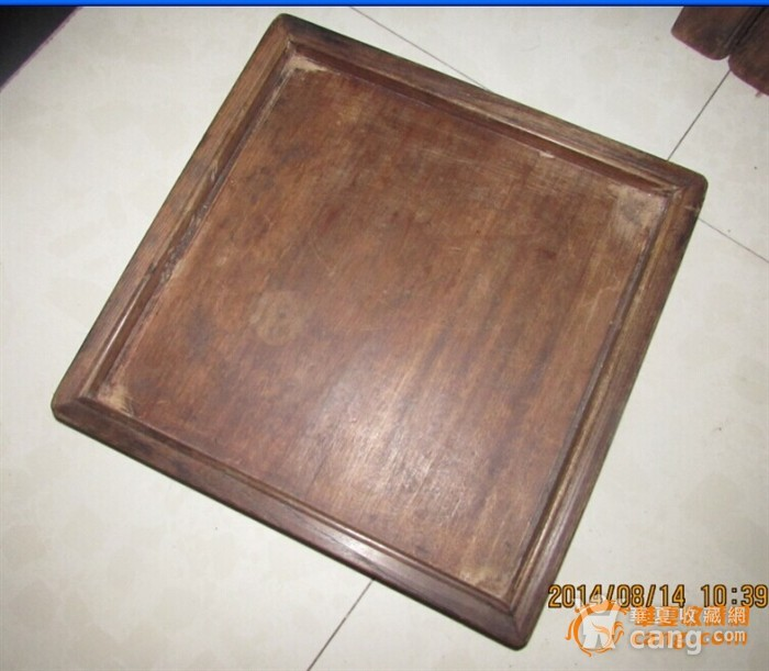苏工。起线榉木方形茶盘图3