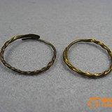【一对老铜环!耳环/戒指!】编号1335