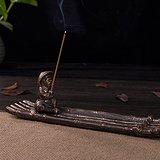 古铜釉竹排香插