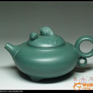 宜兴紫砂壶 国家级职称王红娟 稀有民国绿泥 金鱼180cc