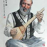 【新疆木卡姆】黄庙林精品人物-好字画