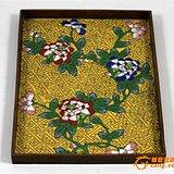 晚清 铜胎 珐琅 镏金 花卉 纹盘