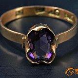 欧洲珠宝-1974年18K金嵌紫晶戒指一枚-08