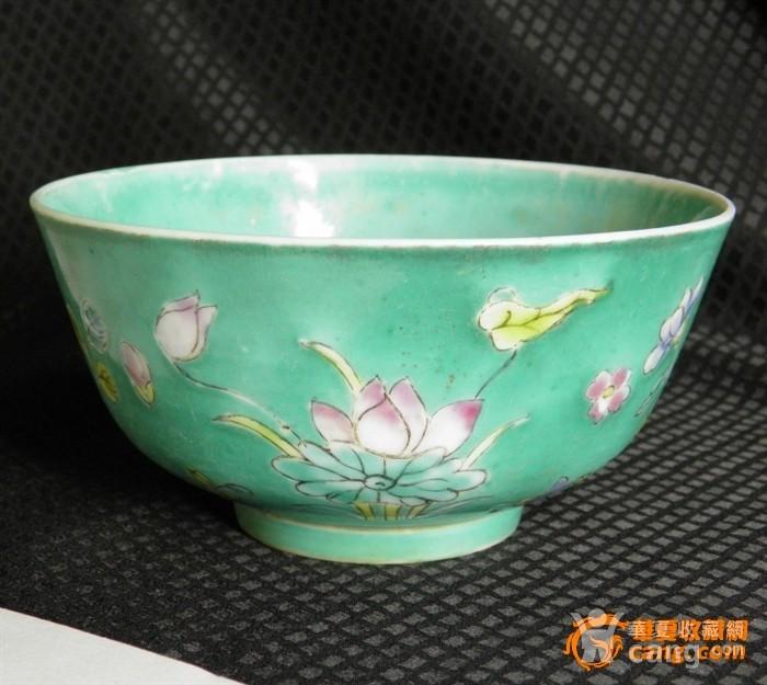 少有品种-清湖绿花卉碗,图3