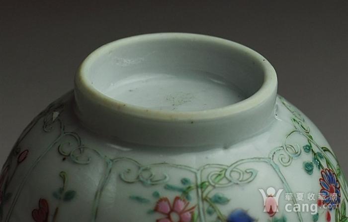 清三代 粉彩 花卉纹 菱口杯图5