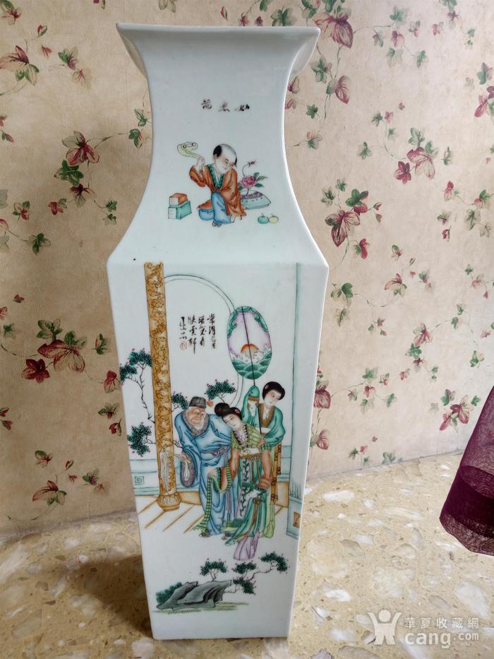 民国四方大花瓶