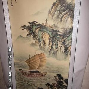 现当代著名画家张继伟巨幅画一帆风顺图一幅