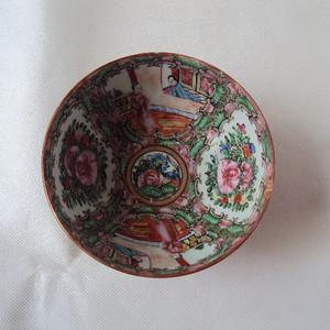 大清光绪细路广彩人物纹中碗直径12.3厘米满工